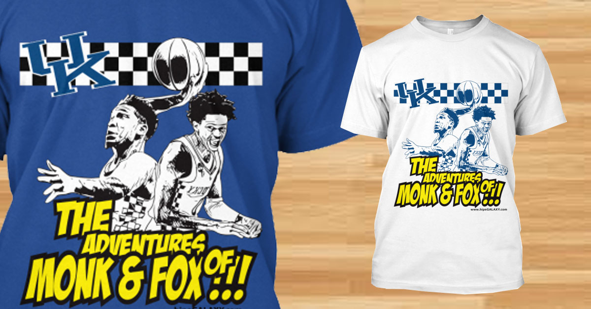 de'aaron fox and Malik Monk Tshirt