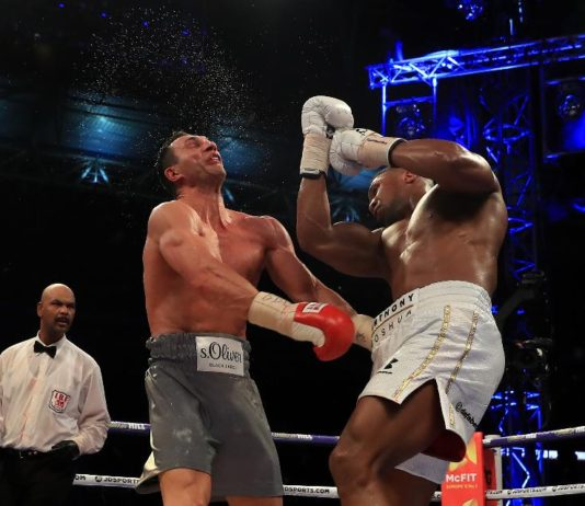 anthony joshua uppercut vladimir Klitschko