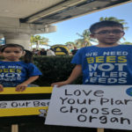 children at the march against monsanto save the bees