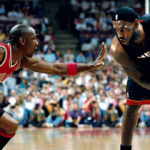 michael jordan guarding lebron james
