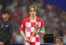Luca Modric wins Golden Ball 2018 for best overall performance in the World Cup