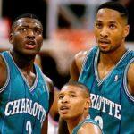 90's nba basketball charlotte hornets - mugsy zo and LJ