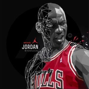 michael jordan polygons