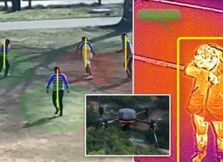 social distancing pandemic drone